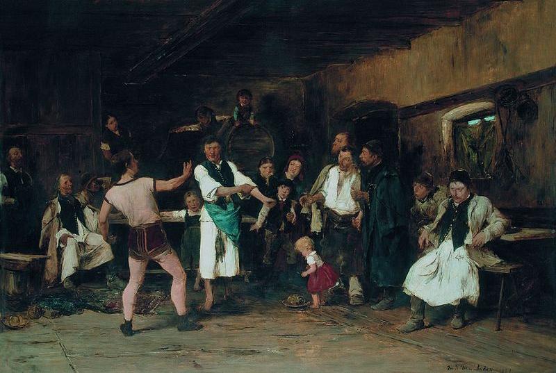 Munkácsi Mihály: A falu hőse (1882)